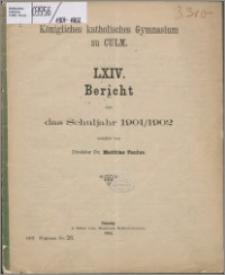 Bericht über das Schuljahr 1901/1902