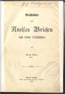 Geschichte des Kreises Briesen und seiner Ortschaften
