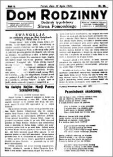 Dom Rodzinny : dodatek tygodniowy Słowa Pomorskiego, 1930.07.18 R. 6 nr 29