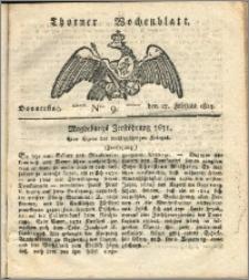 Thorner Wochenblatt 1823, Nro. 9
