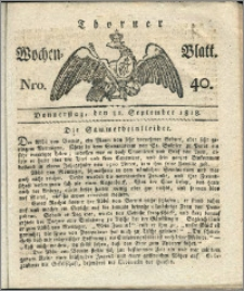 Thorner Wochen-Blatt 1818, Nro. 40