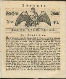 Thorner Wochen-Blatt 1818, Nro. 49