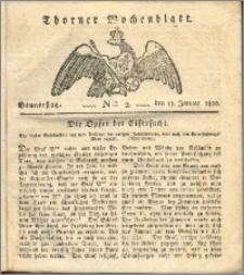 Thorner Wochenblatt 1820, Nro. 2