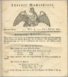 Thorner Wochenblatt 1820, Nro. 5