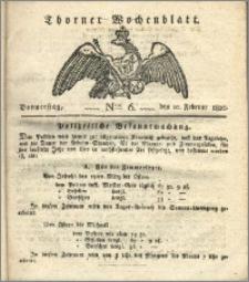 Thorner Wochenblatt 1820, Nro. 6