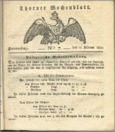 Thorner Wochenblatt 1820, Nro. 7
