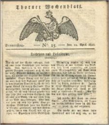 Thorner Wochenblatt 1820, Nro. 15