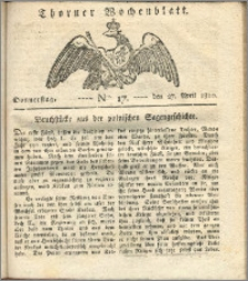 Thorner Wochenblatt 1820, Nro. 17