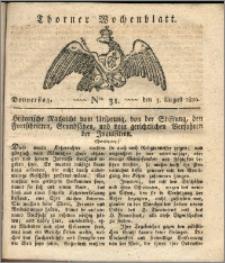 Thorner Wochenblatt 1820, Nro. 31