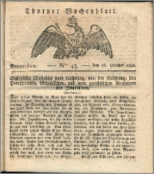 Thorner Wochenblatt 1820, Nro. 43