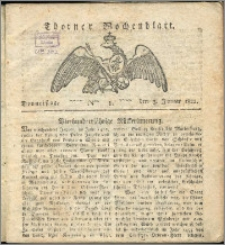 Thorner Wochenblatt 1822, Nro. 1