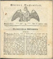 Thorner Wochenblatt 1822, Nro. 3