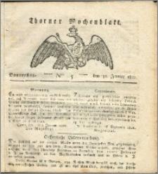Thorner Wochenblatt 1822, Nro. 5
