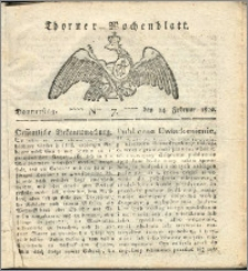 Thorner Wochenblatt 1822, Nro. 7