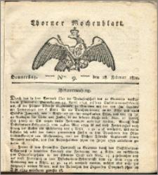 Thorner Wochenblatt 1822, Nro. 9