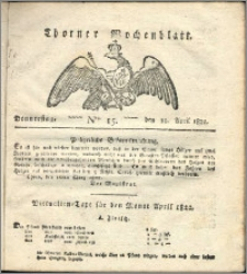 Thorner Wochenblatt 1822, Nro. 15