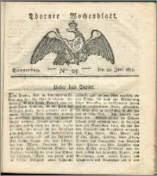 Thorner Wochenblatt 1822, Nro. 25