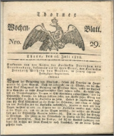 Thorner Wochenblatt 1822, Nro. 29
