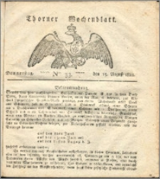 Thorner Wochenblatt 1822, Nro. 33