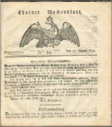 Thorner Wochenblatt 1822, Nro. 34