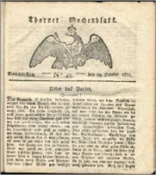 Thorner Wochenblatt 1822, Nro. 43