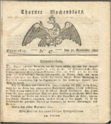 Thorner Wochenblatt 1822, Nro. 47