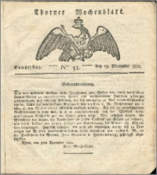 Thorner Wochenblatt 1822, Nro. 51