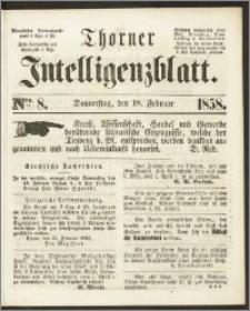 Thorner Intelligenzblatt 1858, Nro. 8