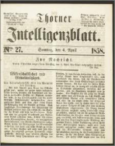 Thorner Intelligenzblatt 1858, Nro. 27