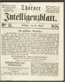 Thorner Intelligenzblatt 1858, Nro. 37