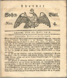 Thorner Wochen-Blatt 1816, Nro. 4