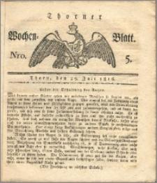 Thorner Wochen-Blatt 1816, Nro. 5