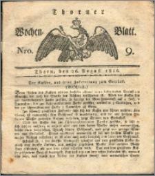 Thorner Wochen-Blatt 1816, Nro. 9 + Beylage