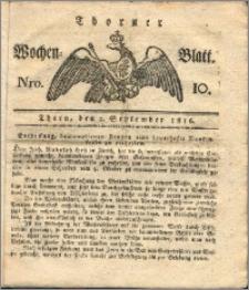 Thorner Wochen-Blatt 1816, Nro. 10