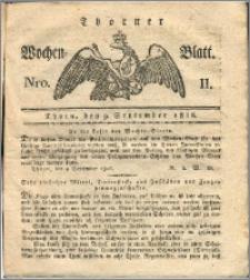 Thorner Wochen-Blatt 1816, Nro. 11 + Beylage