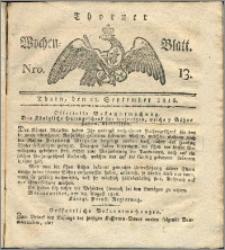 Thorner Wochen-Blatt 1816, Nro. 13