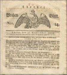 Thorner Wochen-Blatt 1816, Nro. 14 + Beylage