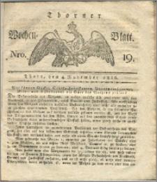 Thorner Wochen-Blatt 1816, Nro. 19