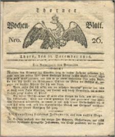 Thorner Wochen-Blatt 1816, Nro. 26