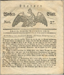 Thorner Wochen-Blatt 1816, Nro. 27