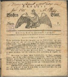 Thorner Wochen-Blatt 1817, Nro. 1