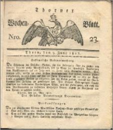 Thorner Wochen-Blatt 1817, Nro. 23