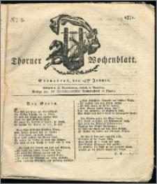 Thorner Wochenblatt 1831, Nro. 3 + Intelligenz Nachrichten