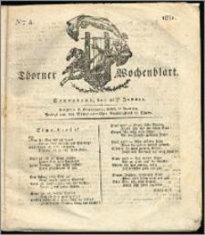 Thorner Wochenblatt 1831, Nro. 4 + Intelligenz Nachrichten