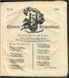 Thorner Wochenblatt 1831, Nro. 5 + Intelligenz Nachrichten