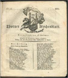Thorner Wochenblatt 1831, Nro. 6 + Intelligenz Nachrichten