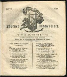 Thorner Wochenblatt 1831, Nro. 7 + Intelligenz Nachrichten