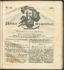 Thorner Wochenblatt 1831, Nro. 12 + Intelligenz Nachrichten
