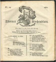 Thorner Wochenblatt 1831, Nro. 14 + Intelligenz Nachrichten