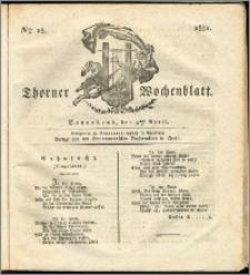 Thorner Wochenblatt 1831, Nro. 15 + Intelligenz Nachrichten